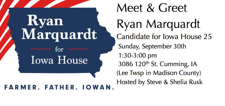 Sunday, September 30, 2018:<br>Meet & Greet Ryan Marquardt in Cumming