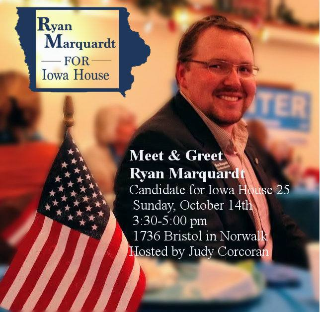 Sunday, October 14, 2018:<br>Meet & Greet Ryan Marquardt in Norwalk