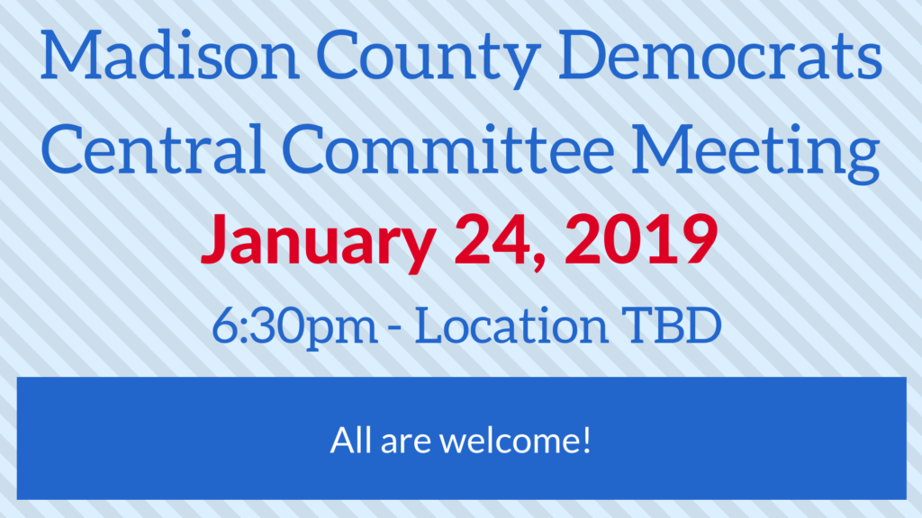 Thursday, January 24, 2019: Democrats Committee Meeting